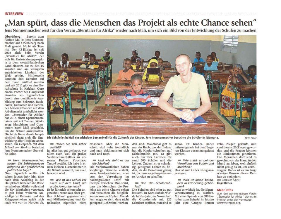 Münchner Merkur - Mali 2017